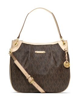 MICHAEL Michael Kors  Large Jet Set Signature PVC Shoulder Bag