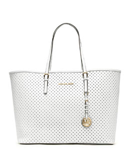MICHAEL Michael Kors  Medium Jet Set Perforated Travel Tote