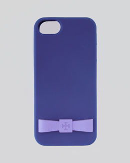 Tory Burch Bow Silicone iPhone 5 Case, Blue Nile Multi