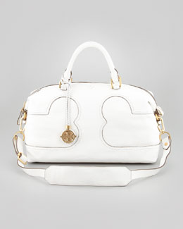 Tory Burch Amalie Satchel Bag, Ivory
