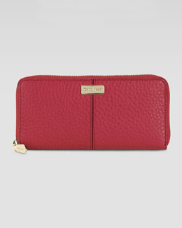 Cole Haan Village Travel Zip Wallet, Red