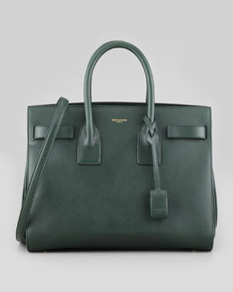 Saint Laurent Sac du Jour Small Carryall Bag, Teal