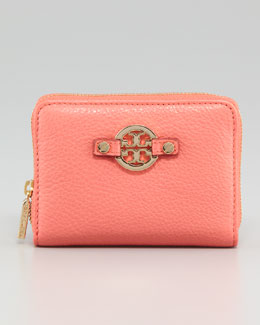 Tory Burch Amanda Zip-Around Coin Case, Strawberry