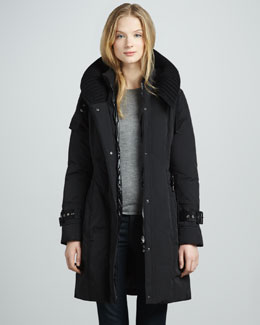 Moncler Chacal Hooded Coat