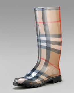 Burberry Check Rain Boot