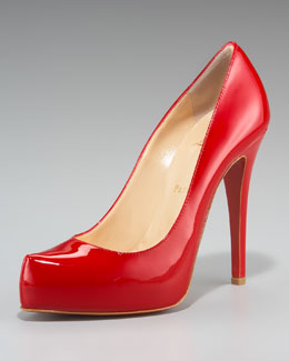 Christian Louboutin Rolando Hidden-Platform Pump, Patent Leather
