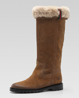 Gucci Saint Moritz High Flat Boot