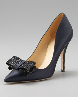 kate spade new york latrice satin glitter pump