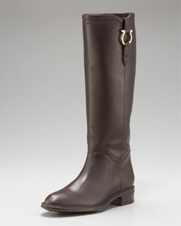 Salvatore Ferragamo Fersea Gancini Riding Boot