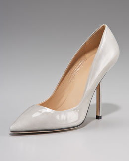 Diane von Furstenberg Bang Patent Pointed-Toe Pump