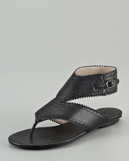 Balenciaga Covered Arena Sandal with Ankle Strap