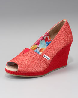 TOMS Savannah Woven Wedge