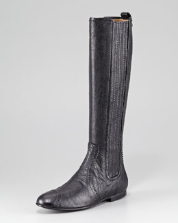 Balenciaga Arena Leather Knee Boot