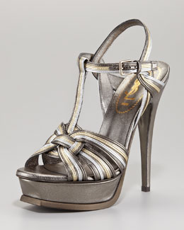 Yves Saint Laurent Metallic Tribute Sandal