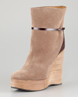 Chloe Suede Wedge Boot