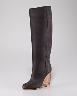 Maison Martin Margiela Plexi-Wedge Tall Boot