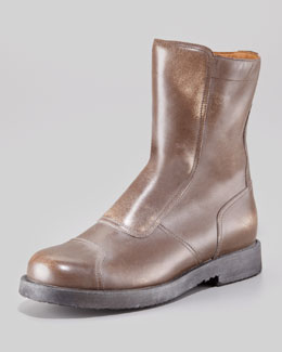 Maison Martin Margiela Limited-Edition Leather Biker Boot