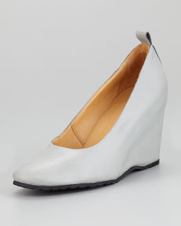 MM6 Maison Martin Margiela Leather Wedge Pump