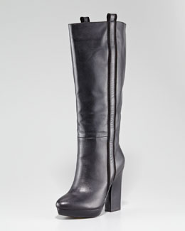 Nanette Lepore Be My Baby Leather Platform Boot