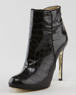 Stella McCartney Faux-Crocodile Bootie