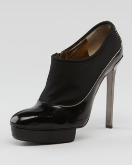 Lanvin Island-Platform Leather Bootie