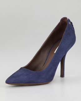 Vera Wang Lavender Tammy Back-Zip Pointed Pump