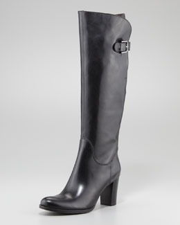Sesto Meucci Buckle-Back Knee Boot, Black