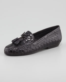 Sesto Meucci Neda Woven Leather Slip-On Loafer