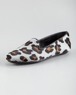 Jacques Levine Brynn Printed Calf Hair Smoking Shoe