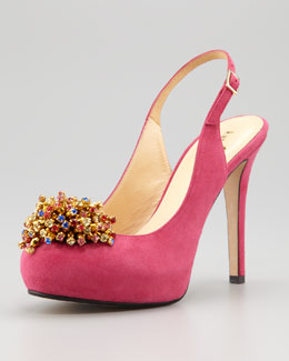 kate spade new york lenora toe-ornament slingback
