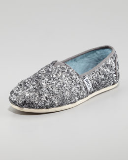 TOMS Sequined Matte Slip-On