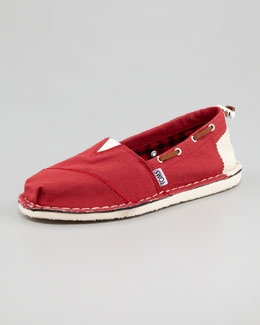 TOMS Bimini Boat Shoe, Red