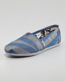 TOMS Preston Metallic Striped Canvas Slip-On