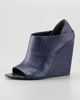 Alexander Wang Alla Crocodile-Lizard-Print Wedge