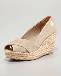 Tory Burch Filipa Espadrille Wedge, Gold
