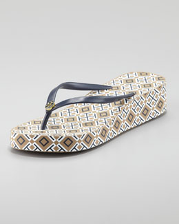 Tory Burch Thandie Wedge Flip-Flop
