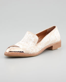 Rachel Roy Cap-Toe Lace Smoking Loafer