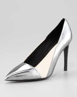 See by Chloe Specchio Pointed-Toe Pump, Anthracite