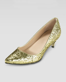Cole Haan Air Juliana Glitter Pump, Gold