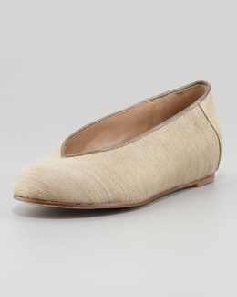 Eileen Fisher Raffia Envelope Ballerina, Wheat