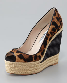 Brian Atwood Cailey Luxor Espadrille Wedge Pump