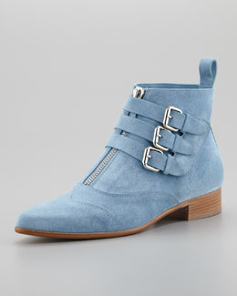 Tabitha Simmons Suede Ankle Boot, Blue