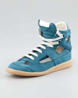 Maison Martin Margiela Cutout High-Top Sneaker, Blue