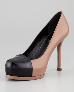 Saint Laurent Tribute Two Patent Cap-Toe Pump