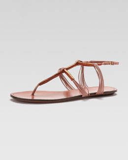 Gucci Flat Thong Sandal, Copper