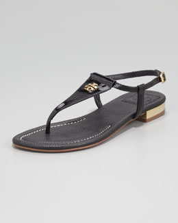 Tory Burch Britton Flat Thong Sandal, Black