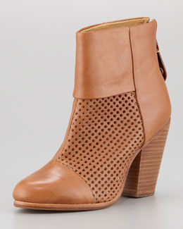 Rag & Bone Newbury Perforated Leather Bootie, Tan