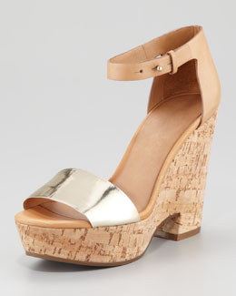 See by Chloe Specchio Cork Wedge Sandal