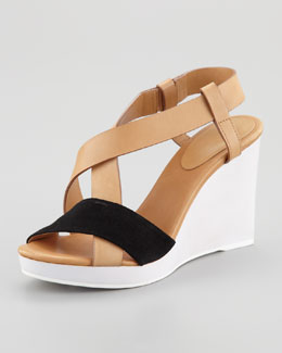 See by Chloe Colorblock Wedge Slingback Sandal