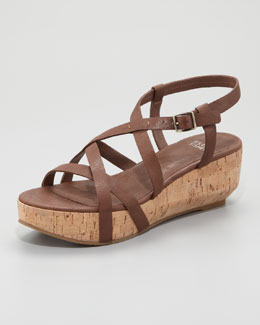 Eileen Fisher Array Cork Sandal, Cocoa Brown